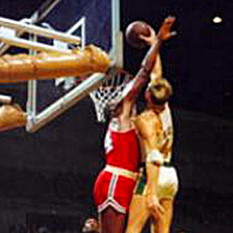 Don Kojis goes up for shot