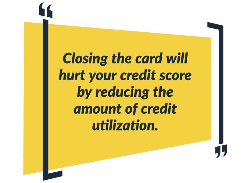 don't close card