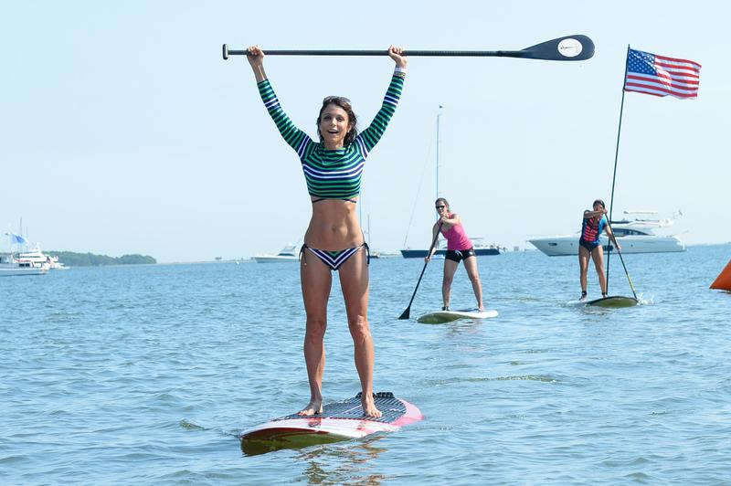 Bethenny Frankel participates in the Hamptons Paddle Race in Sag Harbor, New York, in 2015.