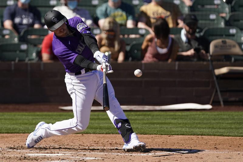 Trevor Story hits three run home run