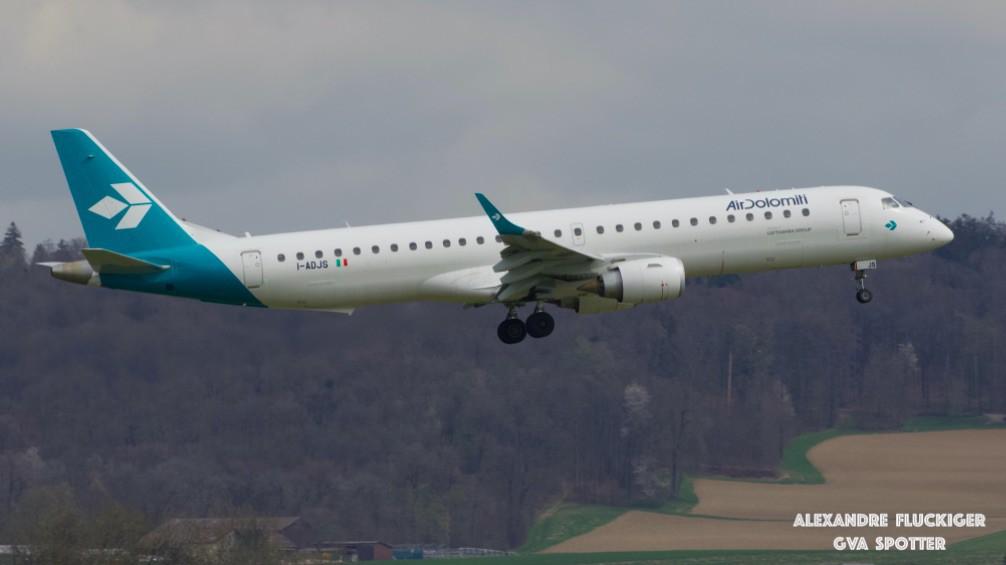 Air Dolomiti plane in the air