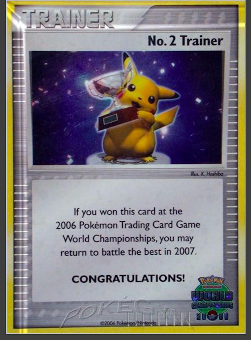 2006 Pokemon World Championships Promo No. 2 Trainer