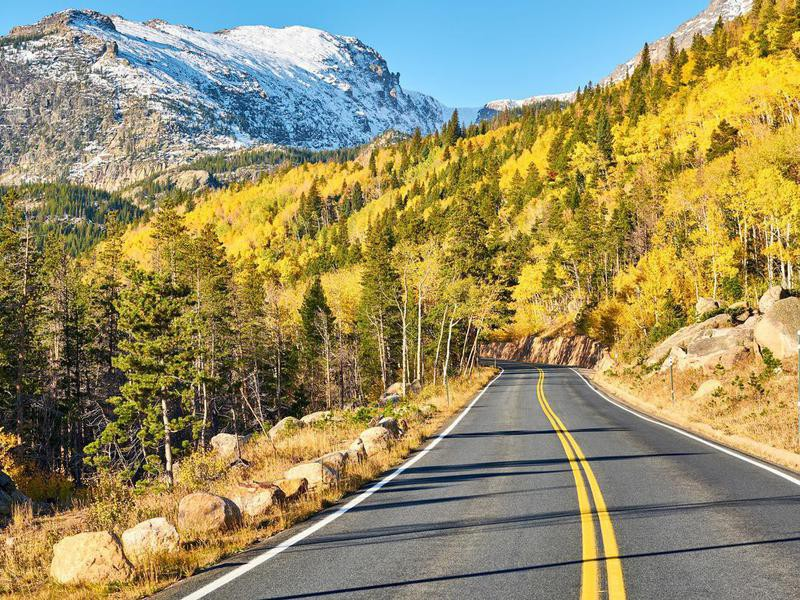 Highway in Rocky Mountain National Park