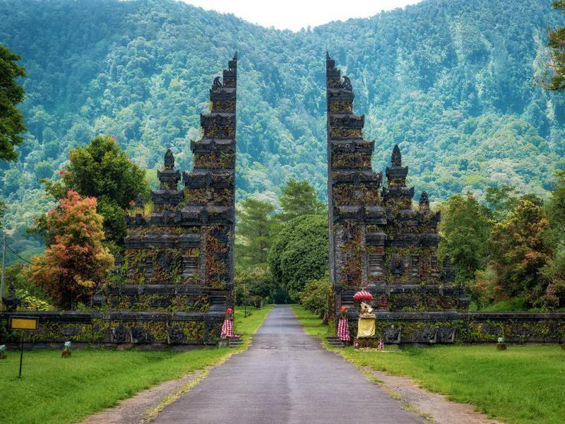 Landmark Temple Gates in Bali