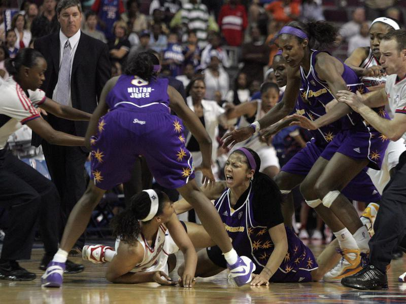 Los Angeles Sparks and Detroit Shock