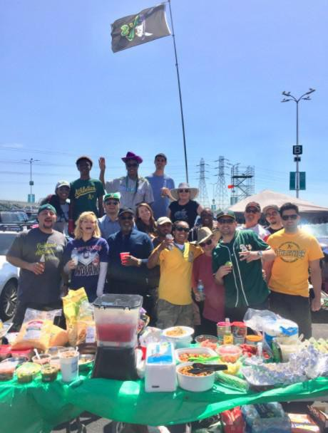Tailgate by Oakland A's fans