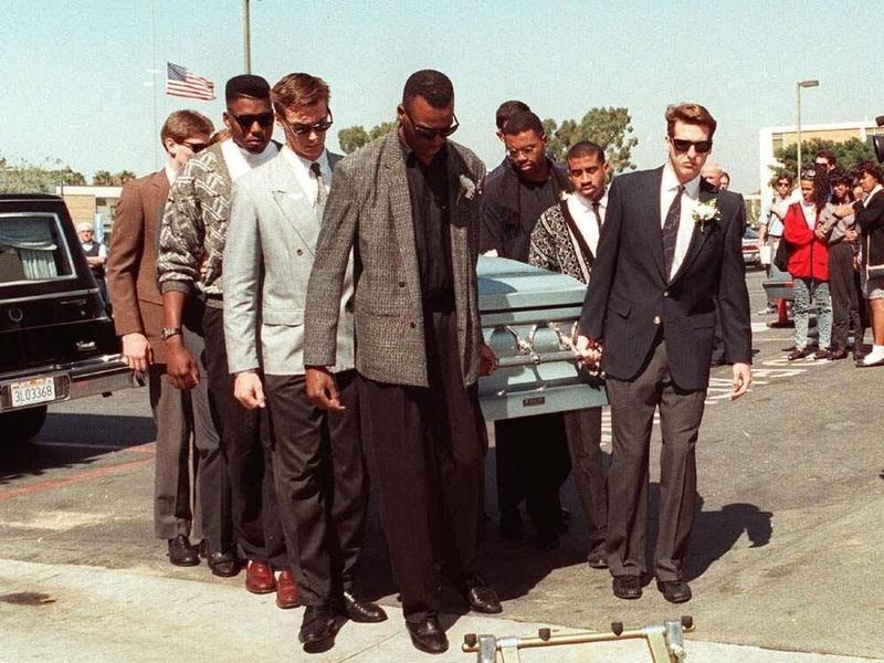 LMU basketball team carries Hank Gathers' coffin
