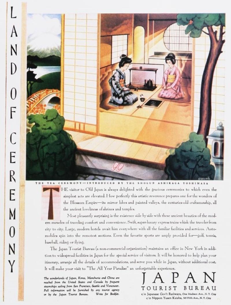 Vintage travel ad for Japan