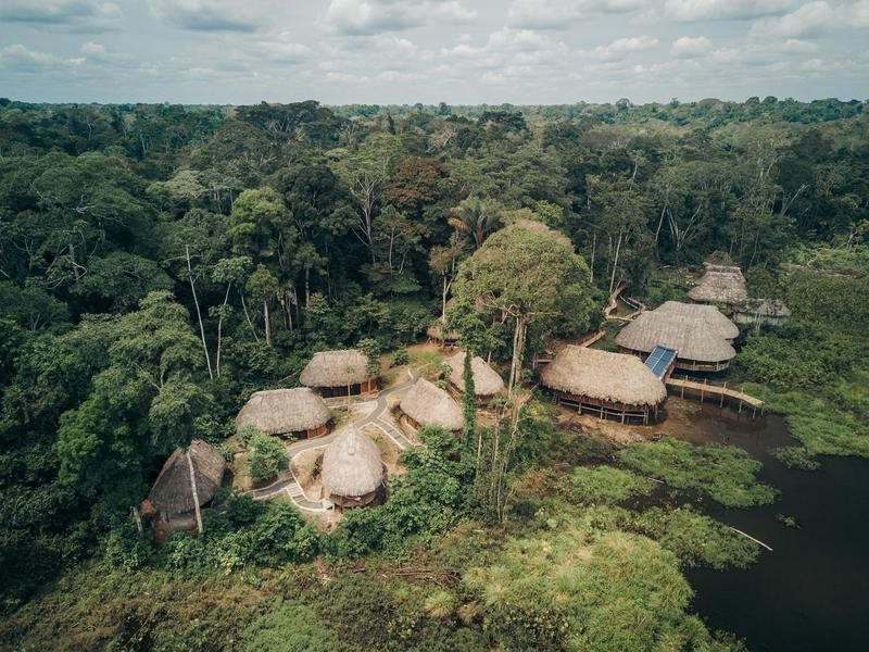 Eco lodge in the Ecuadorian Amazon