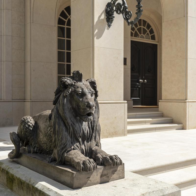 Statue and doorway