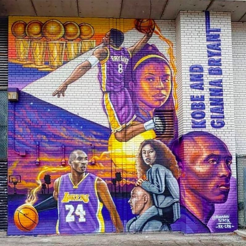Kobe Bryant and Gianna Bryant mural in Chicago