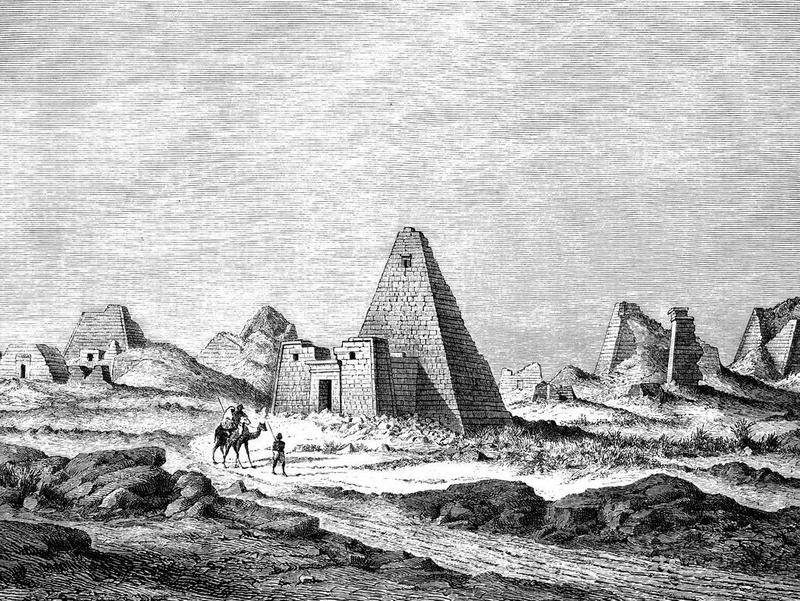 Nubian pyramids of Meroë