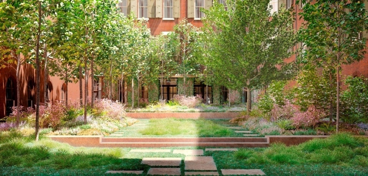 443 Greenwich courtyard