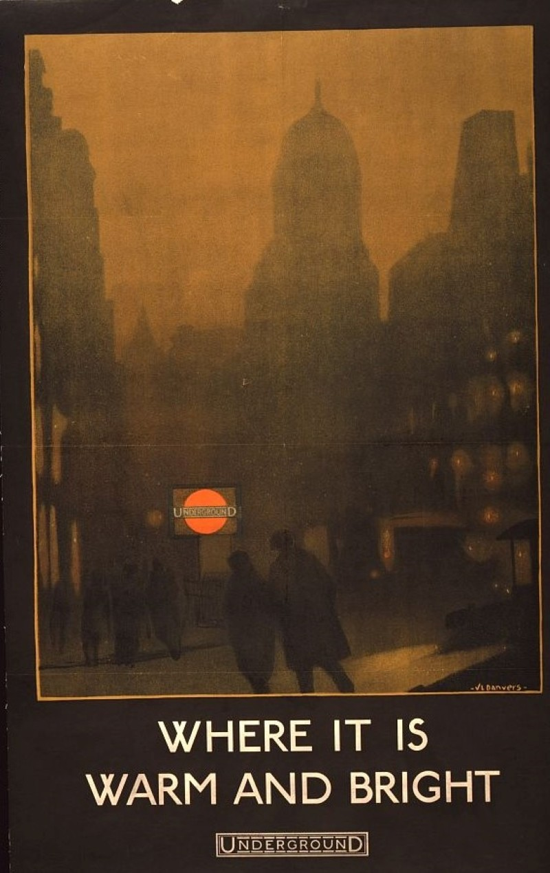 London travel ad from 1924