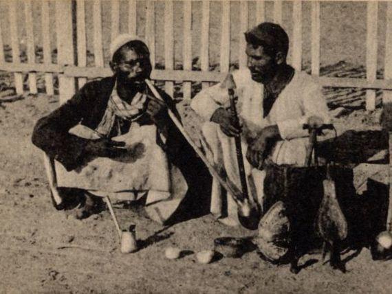 """Postcard titled """"Hashishe Smokers"""""""