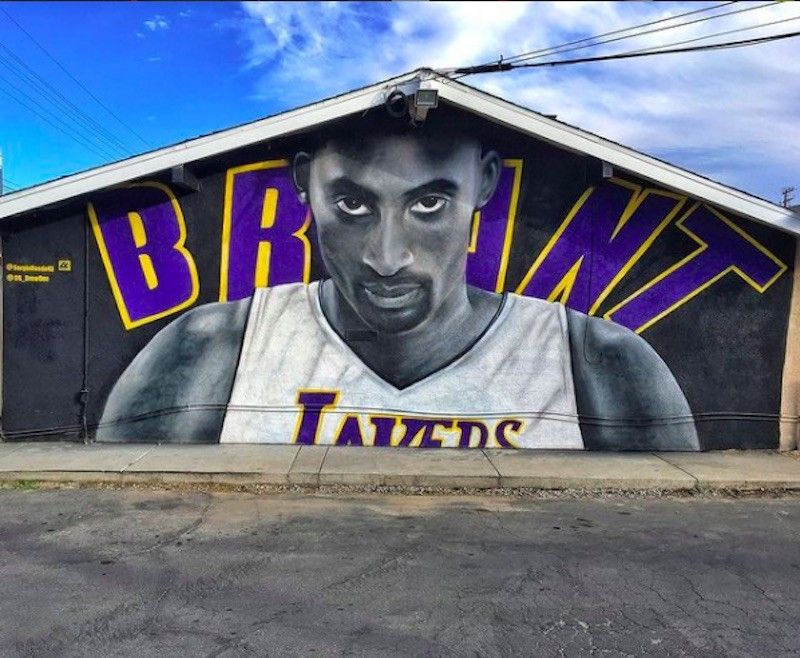 Kobe Bryant mural in Lake Elsinore