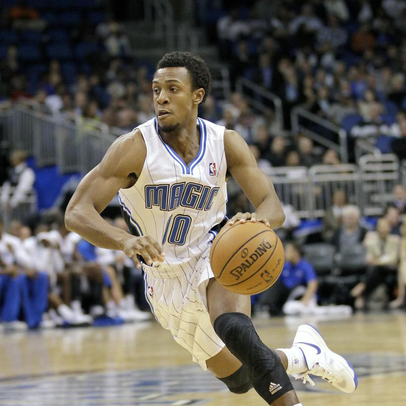 Ish Smith drives the ball against the Brooklyn Nets