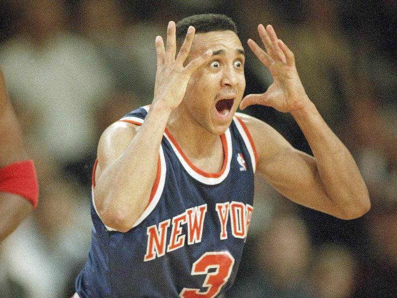 New York Knicks guard John Starks