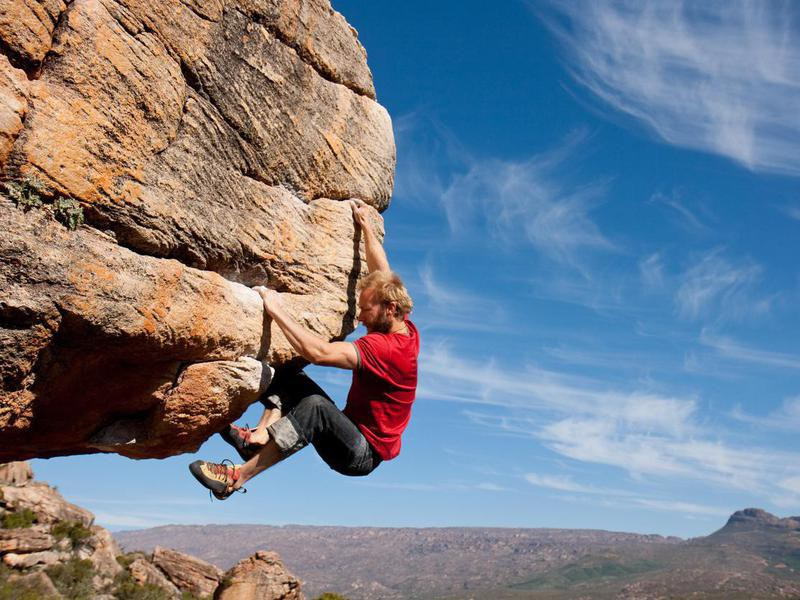 Climbing in Rocklands, South Africa