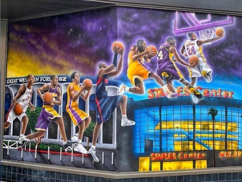Kobe Bryant mural in Santa Monica