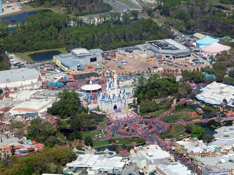 Aerial view of Disneyland