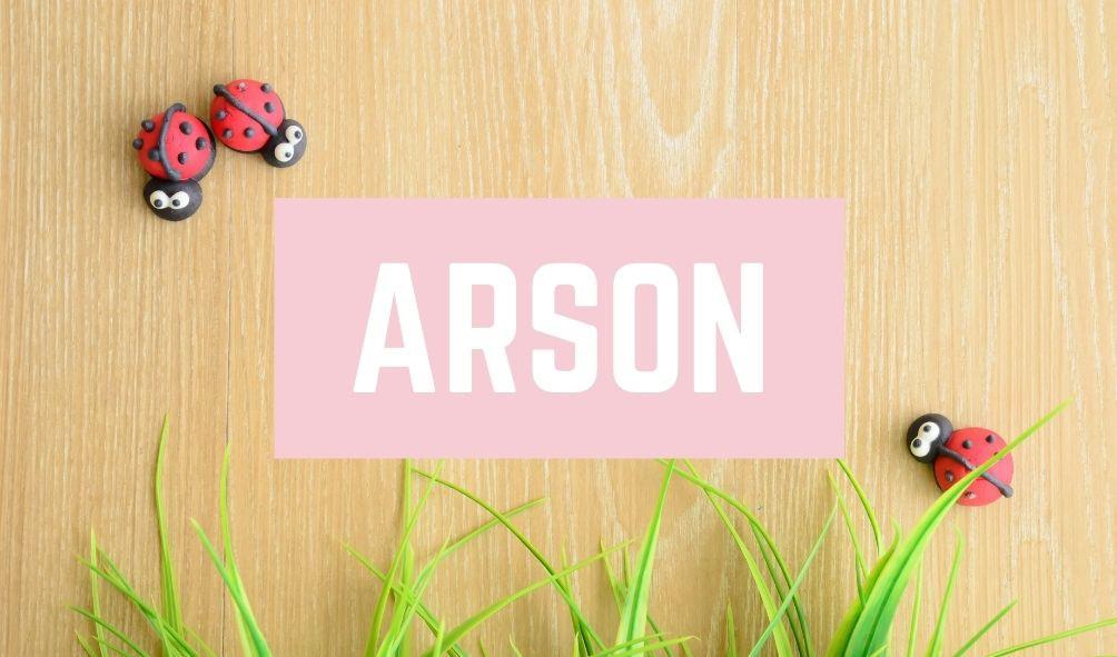 Funny Baby Names: Arson