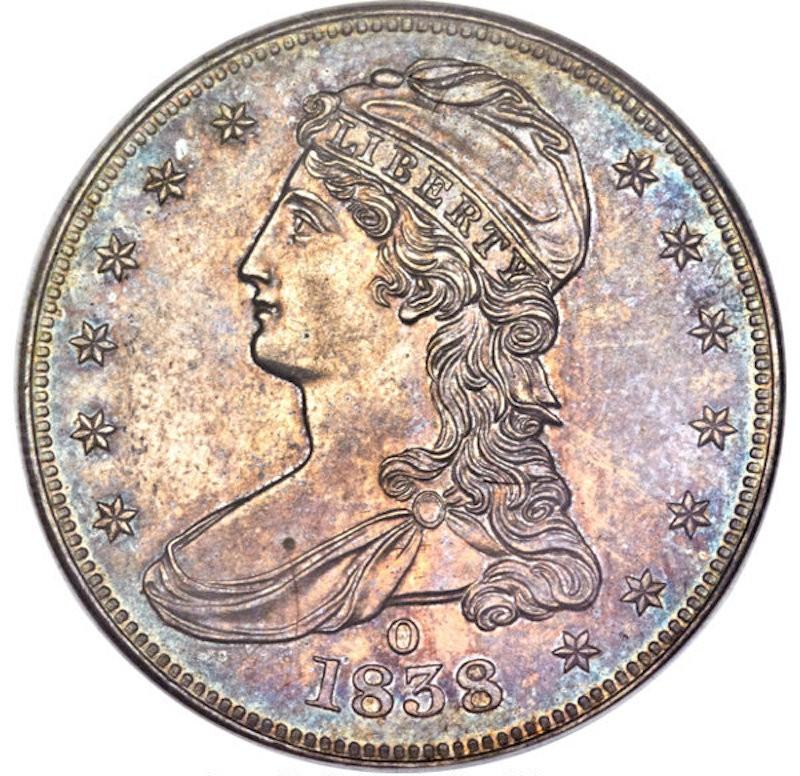 1838-O Half Dollar