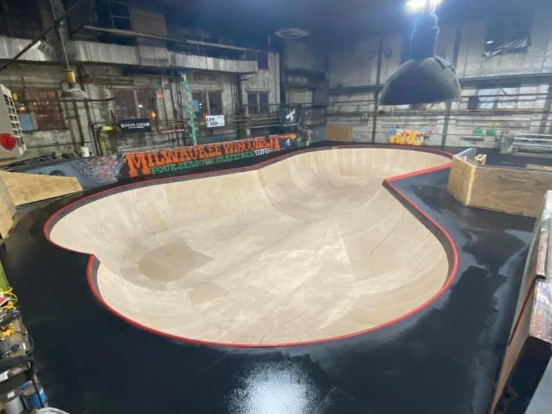 Four Seasons Skate Park in Milwauke, Wisconsin