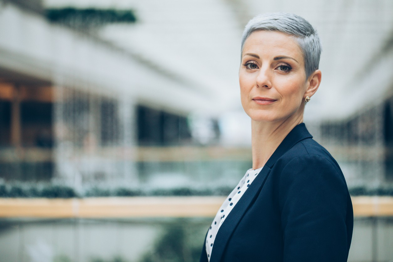 Businesswoman with short hair