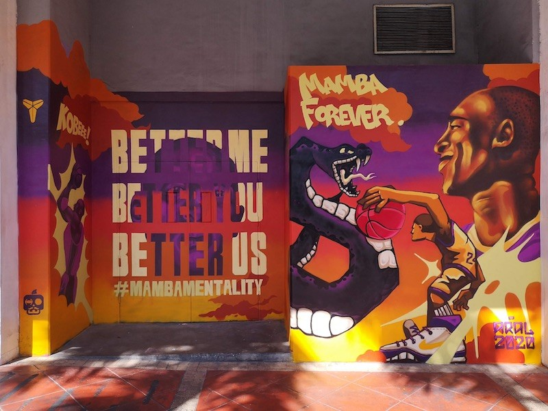 Kobe Bryant mural in Phillipines