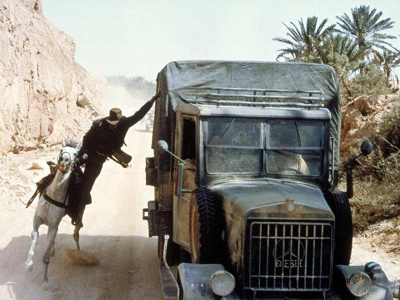 Indiana Jones Being Dragged Behind a Truck
