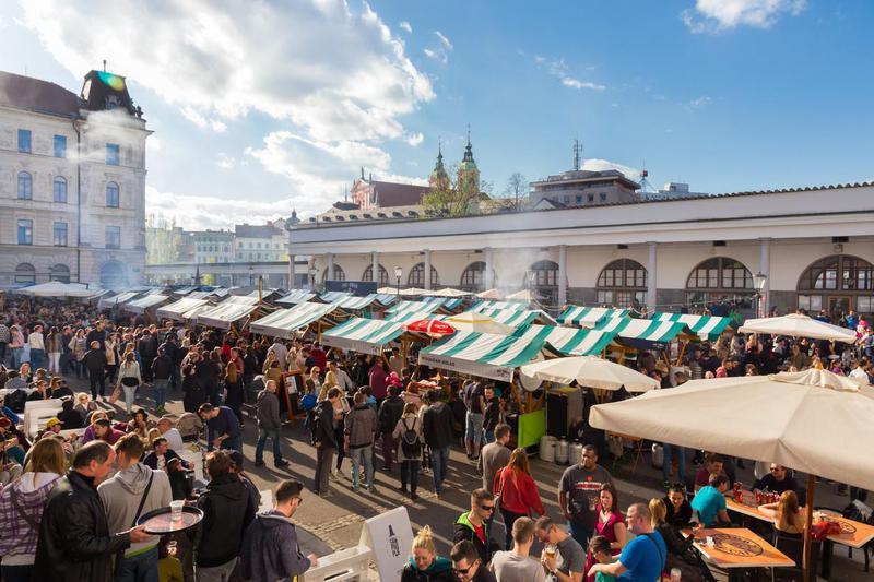 Ljubljana, Slovenia, street foods