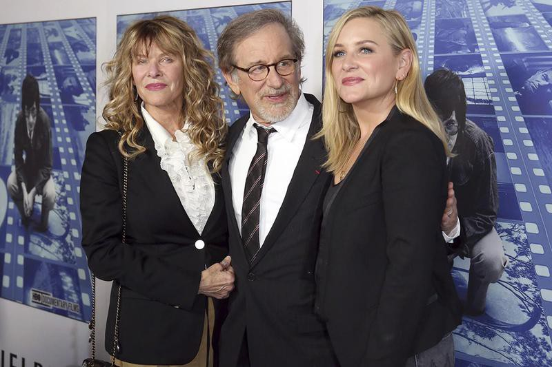 Steven Spielberg and Jessica Capshaw