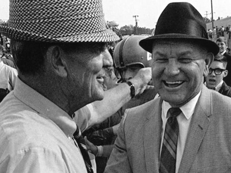 Johnny Vaught and Bear Bryant