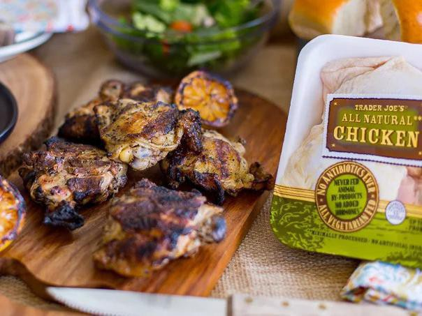 Lemony Grilled Chicken Thighs