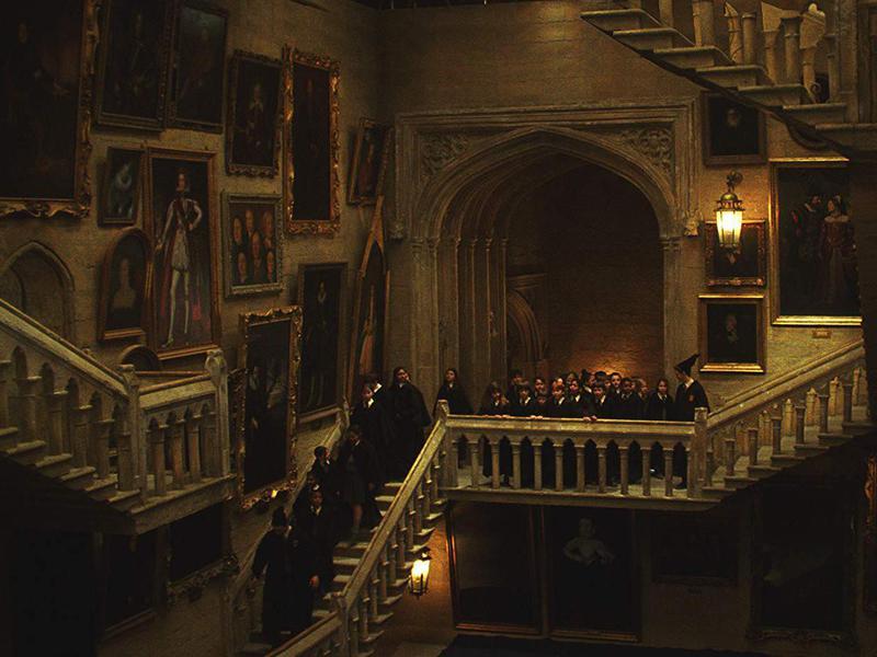Alfred Enoch, Rupert Grint, Matthew Lewis, Devon Murray, Daniel Radcliffe, Chris Rankin, and Emma Watson in Harry Potter and the Sorcerer's Stone (2001)
