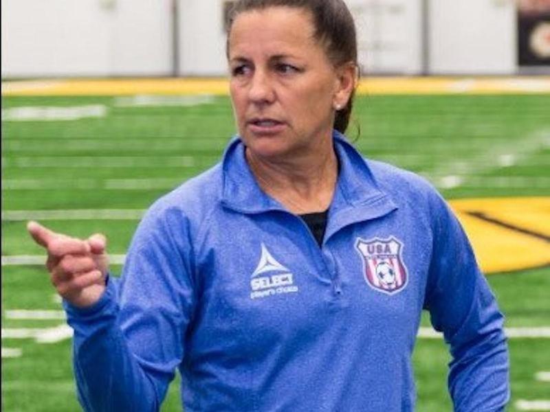 U.S. Women's National Deaf Team coach Joy Fawcett