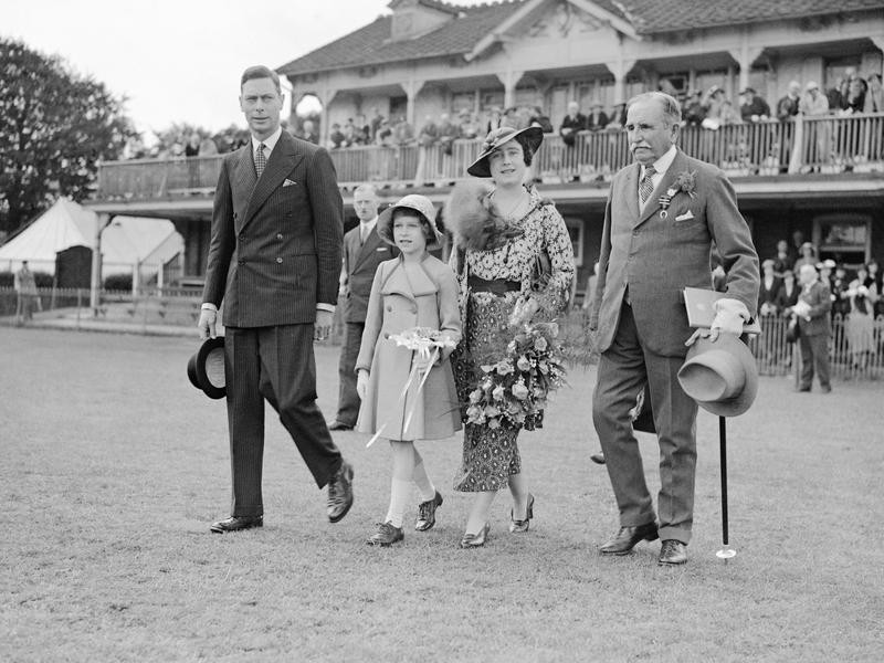 Princess Elizabeth and parents