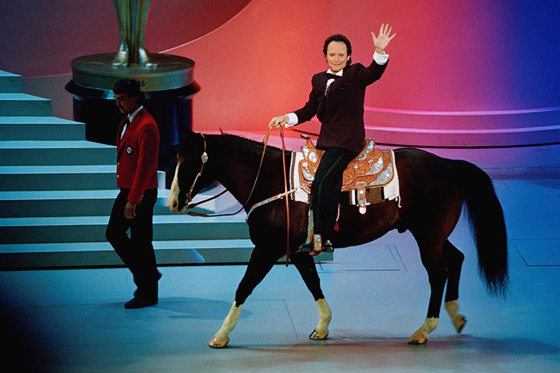 Billy Crystal on horse