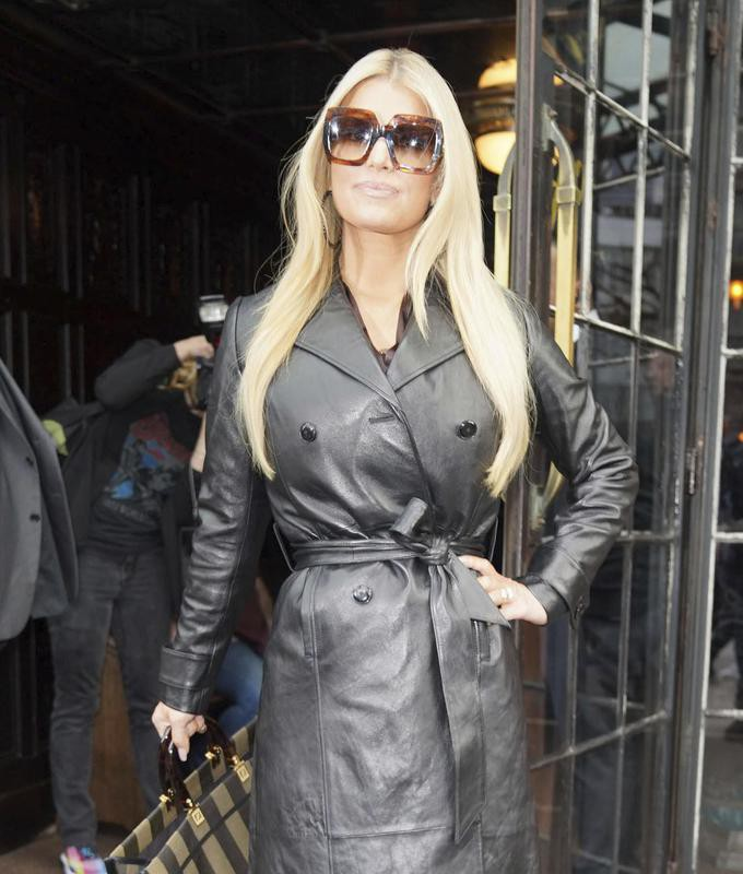 Jessica Simpson at New York Fashion Week