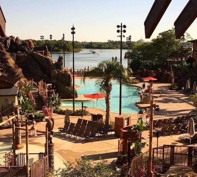 Poolside view of Disney's Polynesian Village Resort