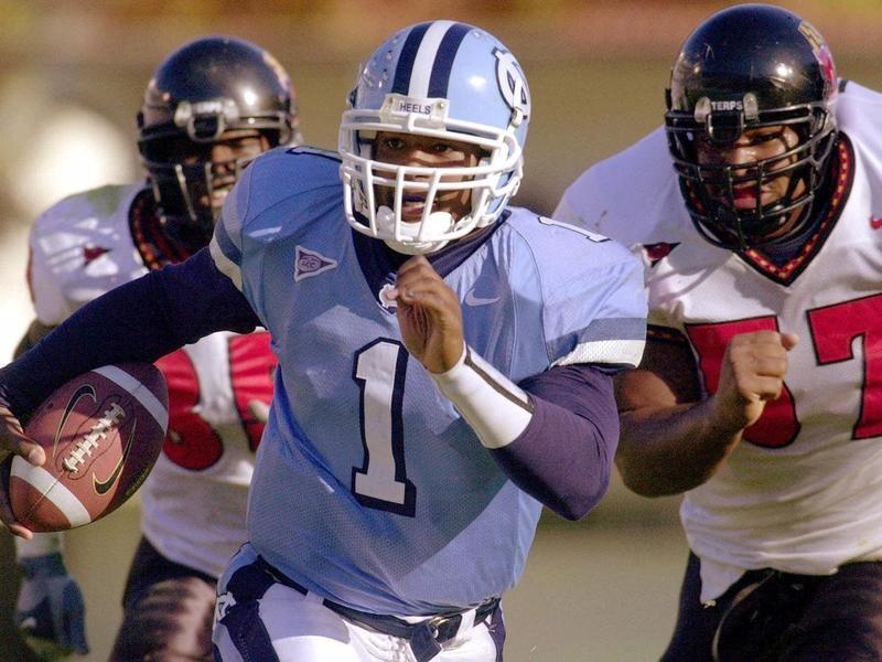 University of North Carolina quarterback Ronald Curry