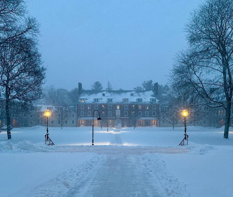 Smith College during winter