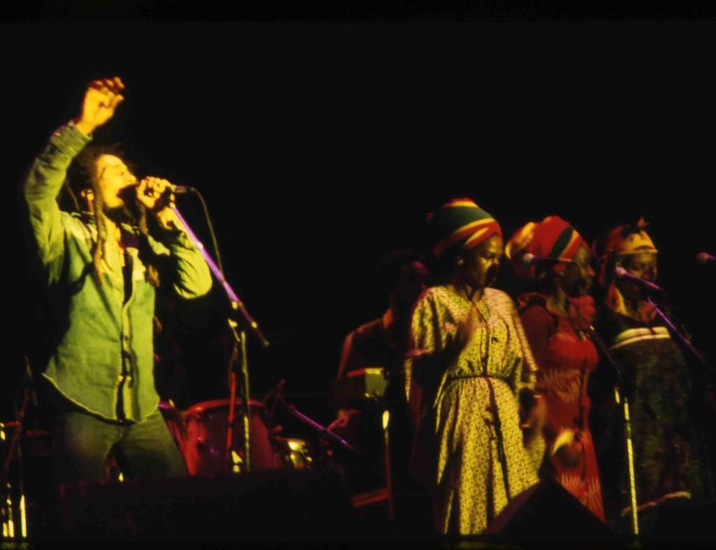 Bob Marley and backup singers