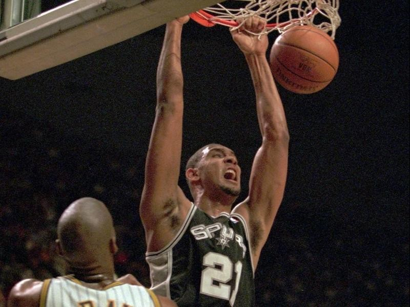 San Antonio Spurs forward Tim Duncan