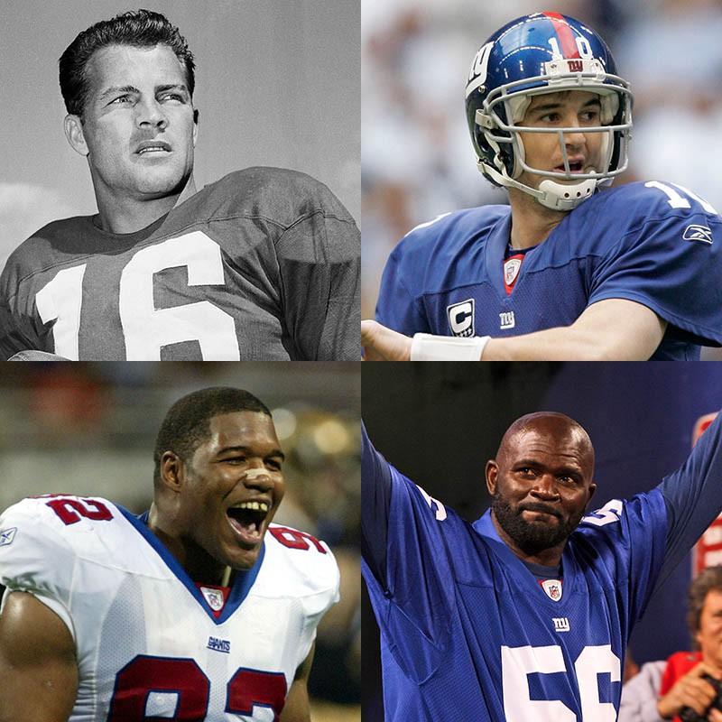 Frank Gifford, Eli Manning, Lawrence Taylor, Michael Strahan
