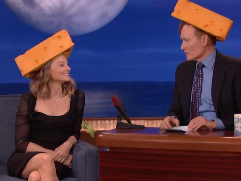 Jodie Foster and Conan O'Brien