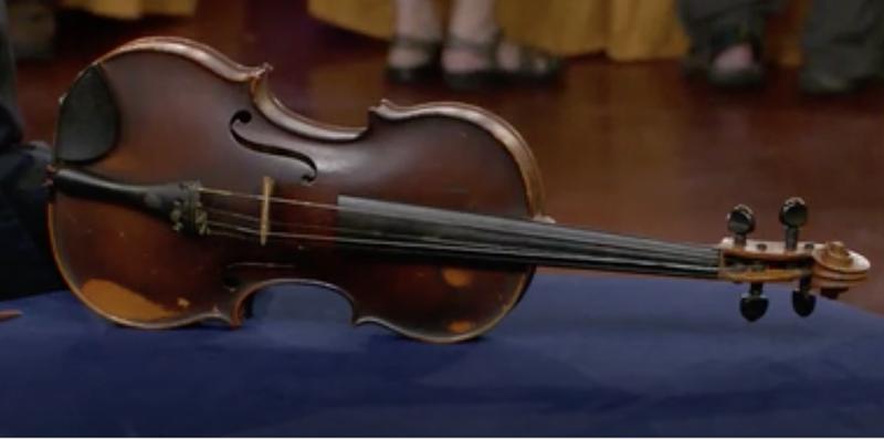 Image result for $35000 dollar violin in trash