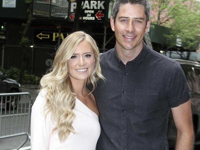 """""""The Bachelor"""" stars and engaged couple Arie Luyendyk, Jr. and Lauren Burnham in New York City in 2018."""