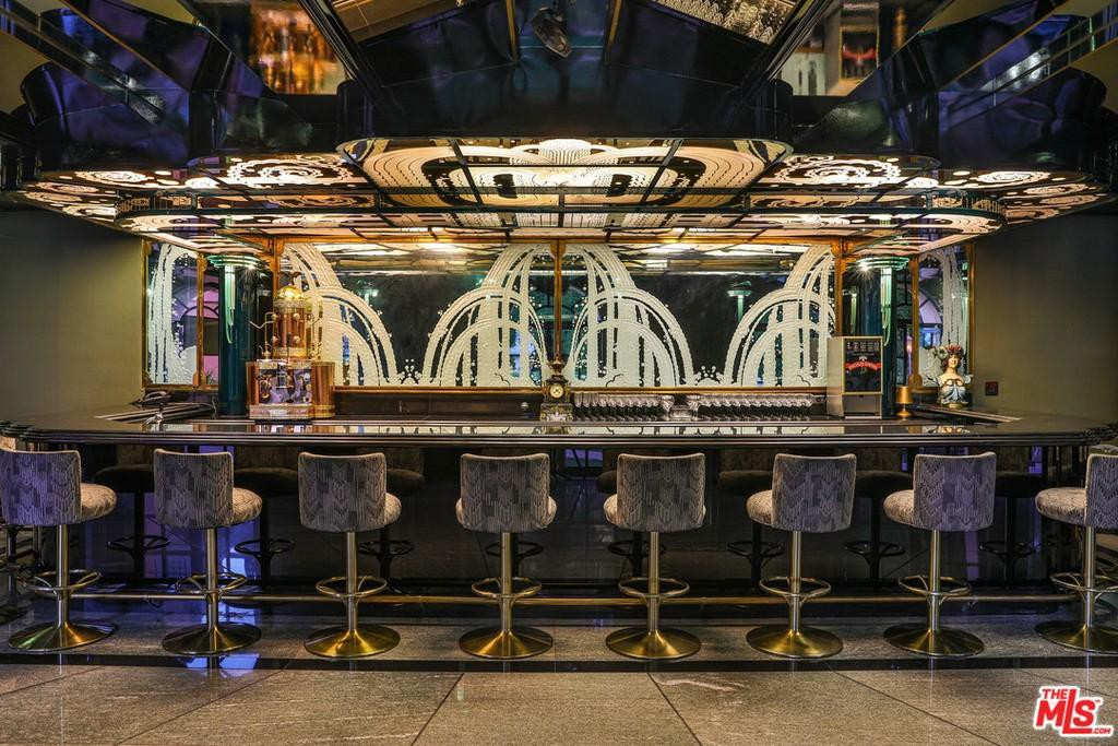 Art deco bar in the Hearst Estate